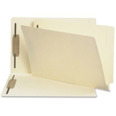 (3 Pack Value Bundle) SMD37215 Heavyweight Folders, Two Fasteners, End Tab, Legal, 14 Point Manila