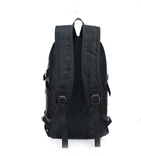 Bulage Bolsas Los Hombres Los Hombros El Ocio Estudiante Bolsas De La Escuela La Moda De Alta Capacidad Al Aire Libre Deportes Viajes Camuflaje Ordenador Black