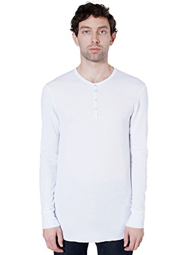 American Apparel  Baby Thermal Long Sleeve Henley, White, X-Large ()