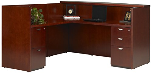 Mayline Mira Series Reception Station with Return Box/Box/File & File/File, - Mira Wood Box