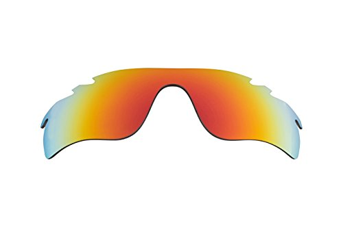 Best SEEK OPTICS Replacement Lenses Oakley VENTED RADARLOCK PATH Asian Fit - Polarized Fire Red - Asian Sunglasses Fit Brands
