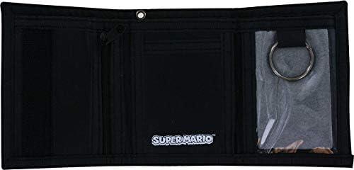 Super Mario Grey Tri-fold Wallet
