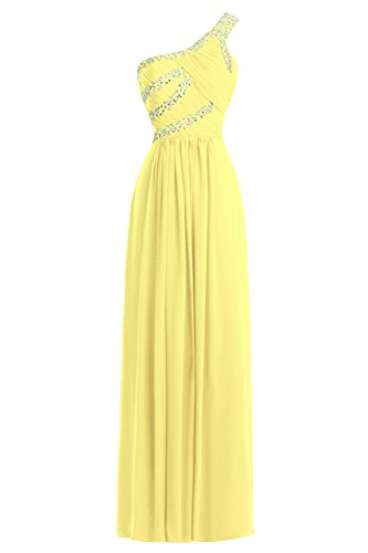One Daffodil Bridal Dresses Prom Beaded Women's Length Floor Shoulder Formal Bess HCxFEwUqU