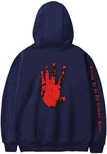 Jerséis De Oliphee Impresión Roja mano Xxxtentacion Color Sólido Blu Hombre La Para Mano TqwtCdw