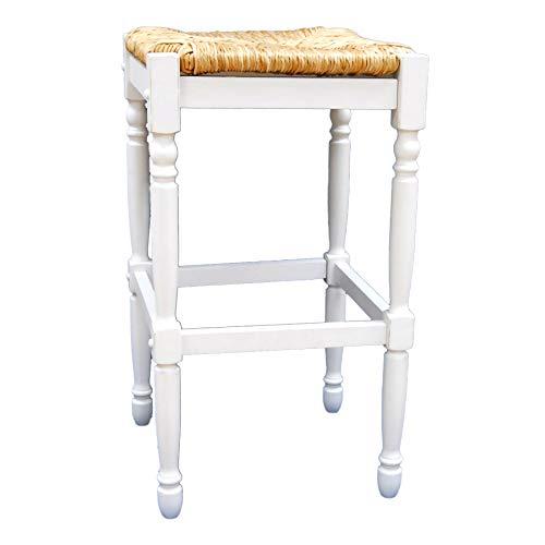 (Carolina Cottage 2663-RTA-MW Hawthorne 29 Inch Barstool 30-inch A. White)