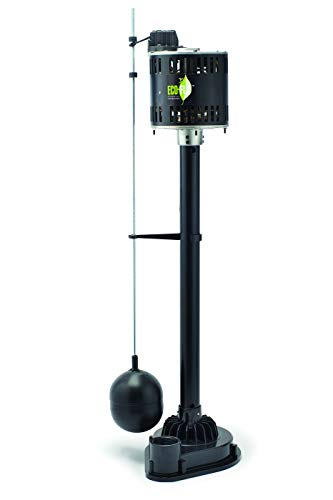 ECO-FLO Products EPP50 Pedestal Sump Pump with Vertical Float Switch, 1/2 HP, 5,000 GPH