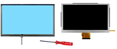 KingFurt Assembled for Nintendo Wii U Gamepad LCD Screen with Glass Digitizer [Touch screen glass] Replacement Touch Screen+ Y-tool