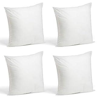 "Foamily Set of 4-18 x 18 Premium Hypoallergenic Stuffer Pillow Inserts Sham Square Form Polyester, 18"" L X 18"" W, Standard/White"