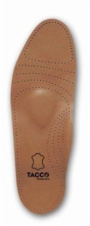 Tacco Men's Full Length Deluxe Leather Orthotic Insole - Size (Orthotic Full Length Leather Shoe)
