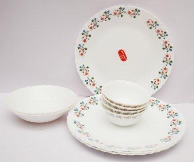 LaOpala Laurel Vine Dinner Set, 27-Pieces, Multicolour