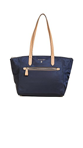 MICHAEL Michael Kors Women's Nylon Kelsey Medium Top Zip Tote, Admiral, One Size