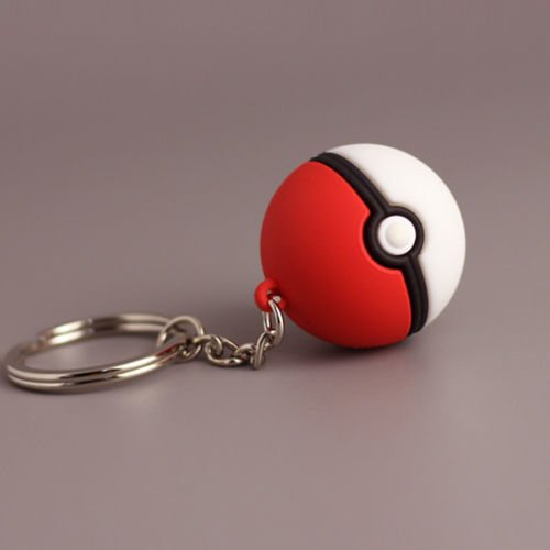 [PokeBall Keychain. PokeBall Keyring. Pokemon Go. Toy Pokemon.] (Homemade Character Costumes Ideas)