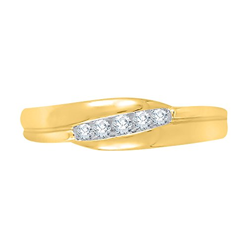 - KATARINA Diamond Fashion Ring in 10K Yellow Gold (1/8 cttw, J-K, SI2-I1) (Size-12.75)