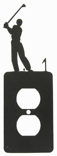 Male Golf Power Outlet Plate Cover