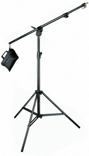 Manfrotto 420B 3- Section Combi- Boom Stand with Sand Bag - Replaces 3397,3397B (Black)