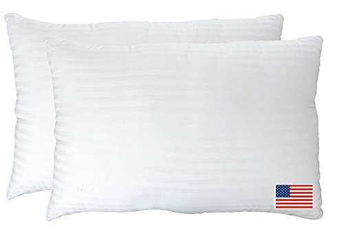 Gel Fiber Pillows - Ultra Plush Down Alternative Pillows Super Soft, Cloud-like Hypoallergenic .9 Micro Denier Filled Pillows Crafted in The USA(Queen 2-Pack, Extra Soft) -100% Satisfaction Guarantee (Plush Super Pillow Top)