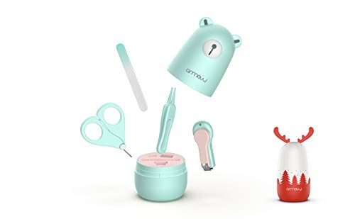 Baby Manicure Set by ARRNEW | 4-in-1 Baby Grooming Kit with Bear Case