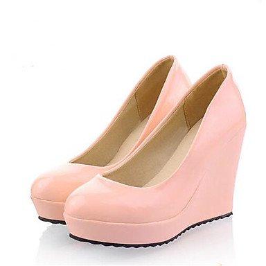 Pu Shoes 4A US4 5 Negro Primavera 5 Las Verano CN33 Confort Pulg EU34 4 Wedding Rosa 4 Casual RTRY 2 Rubor Mujeres'S 4 Beige UK2 Blanco 3 tApqHX