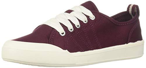 Madden Girl Women's DOT Sneaker, Burgundy Fabric, 8 M -