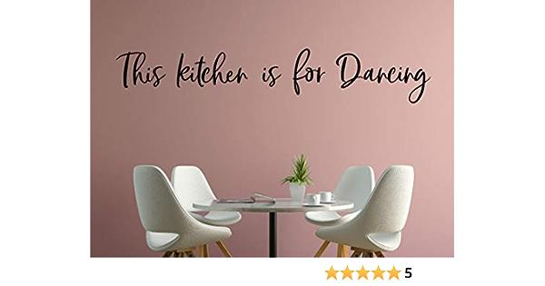 Wall Sticker In This Kitchen We Dance Kitchen Quote Phrase Vinyl Mural Decal Art Decor EH4549