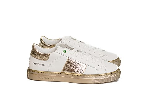 17 In Italy oro Pelle Unisex Womsh Sneakers Bianco Kingston Made qwHPZF1