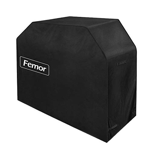 femor 64″ Gas Grill Cover BBQ Cover Waterproof, Premium Heavy Duty 600D with Storage Bag (UV & Dust & Water Resistant, Weather Resistant, Rip Resistant) for Weber, Holland, Jenn Air, Brinkmann etc.