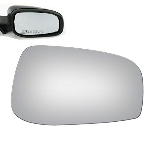 (WLLW Mirror Glass Replacement for 04-06 Volvo S60 S80 V70 Passenger Side)