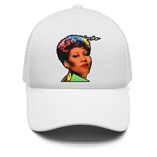 White Unisex Men Aretha-Franklin-pop- Fashion Pop Singer Caps Hats Outdoor