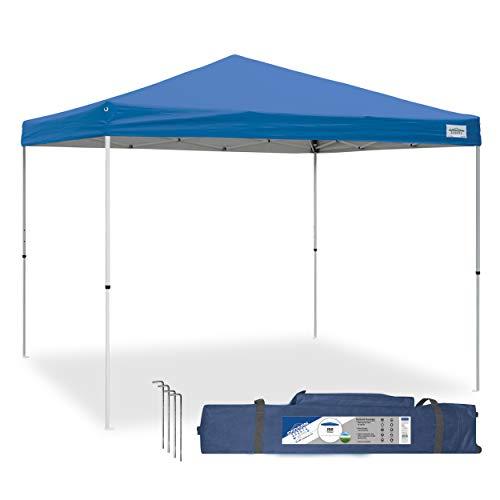 Caravan Canopy V-Series 2 Pro 10 X 10 Foot Straight Leg Canopy Kit, Blue