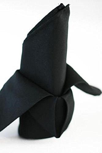 72 black restaurant dinner cloth linen napkins 20x20