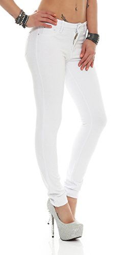 Weiß Femme Jegging Anna Pantalon Miss xYwq6X7v