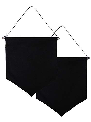 (Xieda 2 Pieces Wall Display Banners Enamel Pin Banners Blank Canvas Banner(Black))