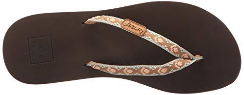Multicolor Ginger Chanclas Reef brown Bpe Para Mujer Brown peach dXgwqSBxFw