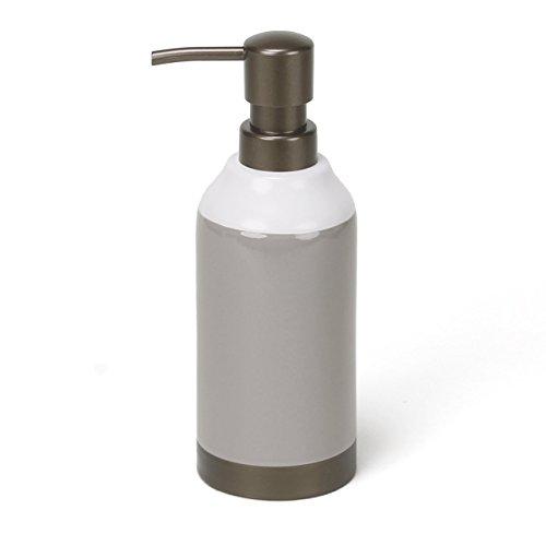 Freestanding Soap (Saturday Knight Colorware Stripe Lotion Dispenser, Grey)