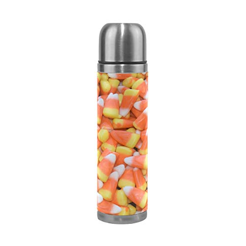 - DEYYA Corn Candy Halloween Double Walled Vacuum Insulated Stainless Steel Water Bottle Vacuum Flask Travel Mug Thermos Coffee Cup 17 oz