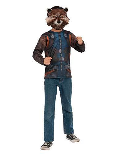 (Rubie's Men's Marvel Guardians of the Galaxy Vol. 2 Rocket Costume Top and Mask,)