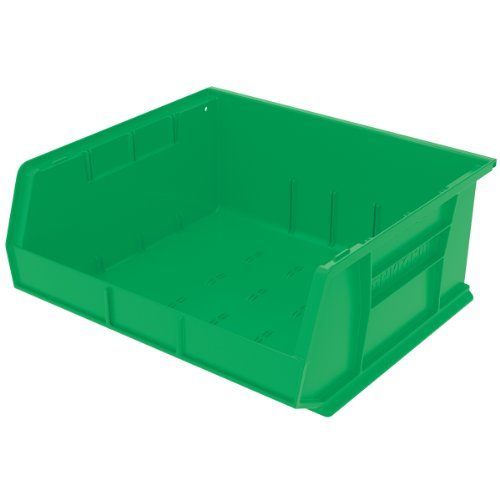 Bench Green 6 - Akro-Mils 30250 Plastic Storage Stacking Hanging Akro Bin, 15-Inch by 16-Inch by 7-Inch, Green, Case of 6