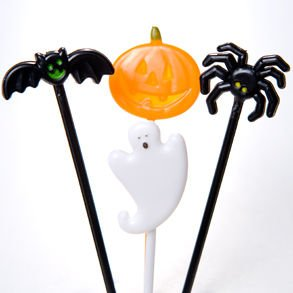 Halloween Food Picks is one of our favorite fun camping Halloween decorations for your campsite and ideas for decorating your RV