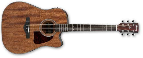 (Ibanez AW54CEOPN Artwood Dreadnought Acoustic/Electric Guitar - Open Pore Natural)