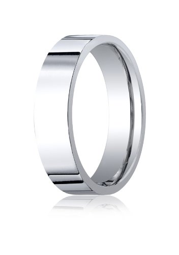 Men's Palladium 6mm Flat Comfort Fit Wedding Band Ring, Size 14.5