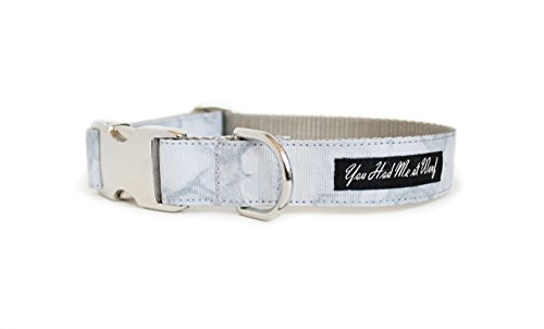 Carrara Marble Dog Collar by You Had Me at Woof