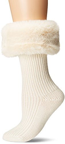 UGG Women's Faux Fur Cuff Short Rainboot Sock, Cream, for sale  Delivered anywhere in USA