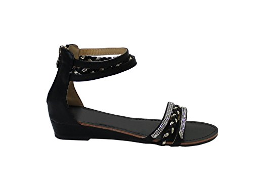 para By Sandalias Shoes Negro Mujer aRqqHxAEw