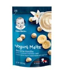 Gerber Yogurt Melts Banana Vanilla (Pack of 8)
