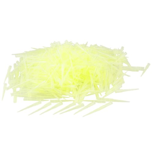 Laboratory Clear Yellow 200UL Lab Liquid Pipette Pipettor Tips 1000 Pcs (Tip Yellow)