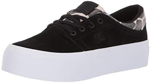 DC Women's Trase Platform SE Skate Shoe, Black/tan, 11 M US