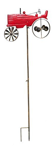 Gifted Living Kinetic Vintage Tractor Outdoor Garden Stake , 63u0026quot;, ...