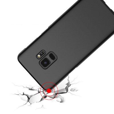 Samsung Galaxy S9 GOGME fino mate sensación ultrafina original protección completa resistente a las caídas de TPU azul