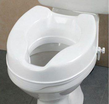 Planet Plastic 6 Inch Commode Seat Raiser White