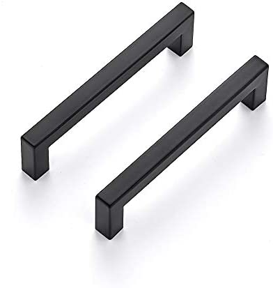 Ravinte 30 Pack 5 Inch Kitchen Square Cabinet Handles Matte Black Cabinet Pulls Black Drawer Pulls Kitchen Cabinet Hardware Kitchen Handles for Cabinets Cupboard Handles Drawer Handles